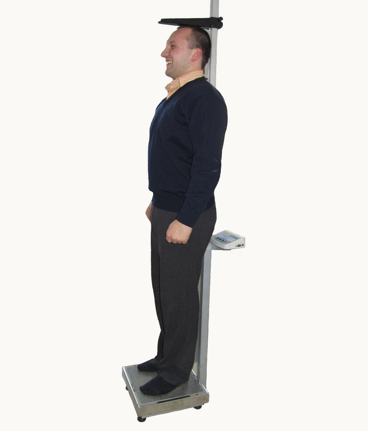 Весы медицинские с ростомером электронные
