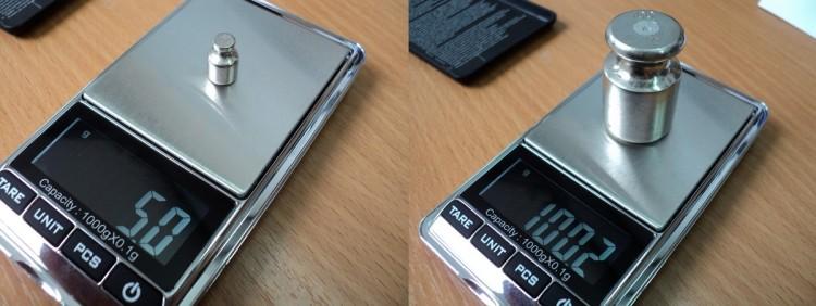 Калибровка электронных весов гирями разного веса